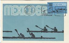 Mexico Olympische Spiele Olympic Games 1968 Maxicard Canoo