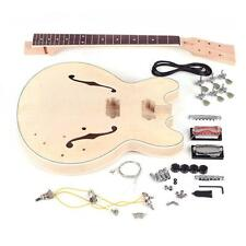 ES-335 Unfinished DIY Electric Guitar Kit Semi Hollow Maple Neck M1J4