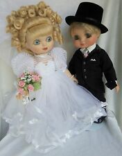 "ADORA BELLE Bride & ADORA BEAU Groom Bridegroom Pair of Dolls 15"", no boxes"