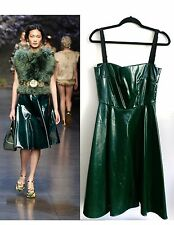 DOLCE GABBANA NWT GREEN DRESS US SZ 8 IT SZ 42 $1885