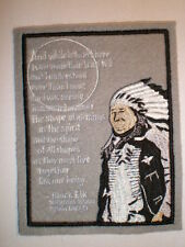 "Native American Lakota Indian Sioux Tribe Chief Black Elk Tribal patch 5.5"" tall"