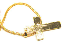 Mens 18K Gold Plated Pendant Necklace Iced Out Hip Hop Snake Braided Chain