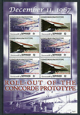 Dominica 2006 MNH Concorde Prototype 6v M/S Airplanes Aircraft Aviation Stamps