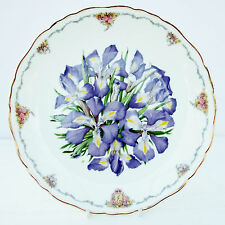 Vintage Royal Albert Collector Plate Queen Mother's Favourite Flowers Irises