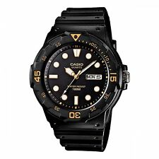 Mens Casio Black Rubber Black Dial Divers Day and Date Sport Watch MRW200H-1EV