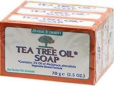 TEA TREE OIL SOAP 100% NATURAL Melaleuca ANTIFUNGAL HERBAL 3 BARS Combined Ship