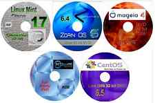 5 Linux OS on 5 DVDs, Zorin, Mint, Mageia PClinuxOS & CentOS, replace Windows