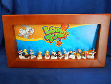 LOONEY TUNES French Porcelain FEVES Wood DISPLAY BOX Set of 12 Figures Figurines