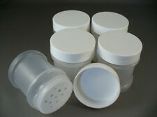 Plastic Spice Bottles Jars 1 oz  With Sifter Caps Lot of 5 FREE US SHIPPING
