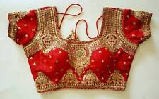 USA  Red saree blouse silk blend saree blouse choli blouse small