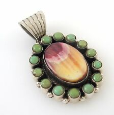 Southwestern Sterling Silver Spiny Oyster Shell Turquoise Pendant DAN DODSON  RS