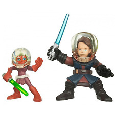 STAR WARS Galactic Heroes Ahsoka & Anakin Skywalker action figures