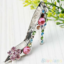 Hot Crystal Beads Sexy High Heels Shoe Charm Pendant For Fashion Necklace