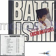 "LUCIO BATTISTI ""IL MEGLIO DI LUCIO BATTISTI"" RARO CD 1984 PRINTED IN JAPAN"