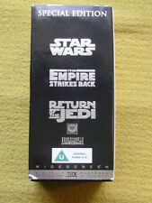 Star Wars Trilogy Special Edition VHS Boxed Set Empire, Retun Of The Jedi VGC
