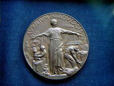 1938 grande medaglia bronzo ASSICURAZIONE RIUNIONE ADRIATICA SICURTA' TRIESTE