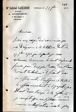 """AUBUSSON (23) Cabinet d'AVOCAT """"Me Gabriel SARCIRON"""" en 1912"""