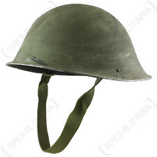 Original British Army MKIV TURTLE SHELL HELMET with CHIN STRAP - Issued Surplus