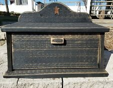 Amish Crafted Primitive Star Bread Box (Distressed Black). Lancaster, PA