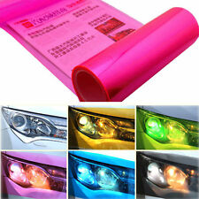 Pink Car Headlight Tint Film Taillight Tail Vinyl Wrap Fog Light Films Sticker
