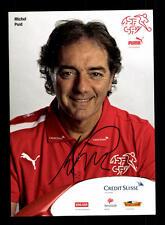 Michel pont autographe carte suisse équipe nationale 2013+a 144700 d