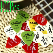 100X Alice 0.58mm Smooth Nylon Guitar Picks Plectrums