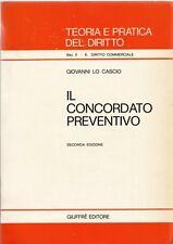 Il concordato preventivo - Giovanni Lo Cascio - Giuffrè U49