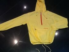 Money New & Genuine Men's Yellow Nylon Hooded Cagoule Size Large With Logo