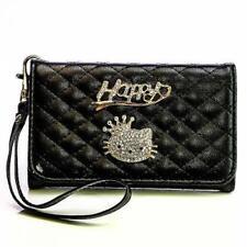 Strass Design Handy Tasche Klapp Etui Flip Cover Schutz Hülle Style Case Schale