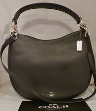 NWT COACH NOMAD HOBO IN GLOVE TANNED NAVY BLUE LEATHER HANDBAG 36026