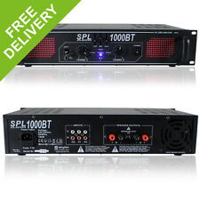 Skytec SPL-1000BT Bluetooth Home Audio Amplifier House Party Hi-Fi EQ Amp 1000W