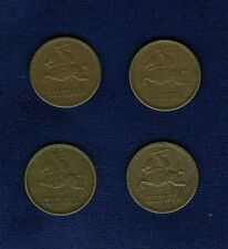 "LITHUANIA 1936  1 ""CENTAS""  COINS, LOT OF (4), XF to  ALMOST UNCIRCULATED"