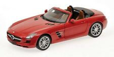 MINICHAMPS MERCEDES 2012 SLS AMG ROADSTER CABRIOLET RED 1:18 (NEW STOCK)