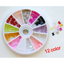 12 Colors Makeup Decoration Bow Bow Pearl Nail Art Stone Wheel Rhinestones Bes