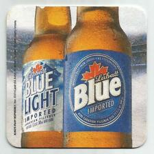 16 Labatt Blue / Light  Lace Up And Face Off  Hockey Theme Beer Coasters