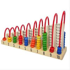 Kids Maths Educational Toys Baby Intelligence Wooden Bead Abacus Counting Number