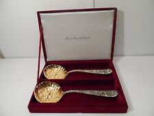 "GODINGER SILVER ART CO BERRY SERVING SPOONS ""AMERICAN SILVERSMITH COLLECTION"""