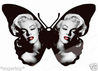 24 Vintage Marilyn  Monroe Butterflies Edible Decorations Cup Cake Toppers