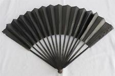 ANTIQUE 18TH CENTURY GEORGIAN  FLORAL CARVED EBONY MOURNING FAN c1790