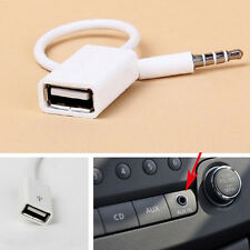 3.5mm Male AUX Audio Plug to USB 2.0 A Female Jack Converter Cord Cable Adapter
