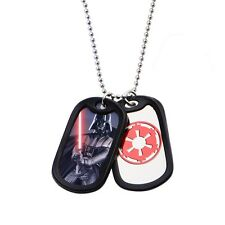 Star Wars Darth Vader Double Dog Tag  Stainless Steel Chain Necklace