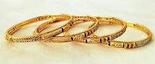 Indian Bangles Jewelry Set Indian Ethnic Gold Plated Set of 4 size 2.6