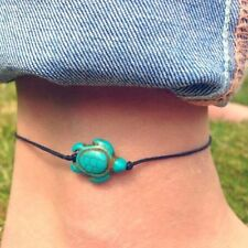 FD4333 Women Turquoise Turtle Ankle Chain Anklet Bracelet Foot Beach Jewelry ^