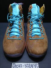 Lebron X 10 EXT QS Hazelnut Brown Suede Limited MVP Denim Cork Men's Size 10