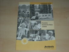 49245) Dethleffs Caravan Wohnwagen Preise & Extras Prospekt 2006