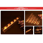 1/2/3/4 Holes Glass Tea Light Candle Holder Clear Tubular Shape Candlestick 30cm