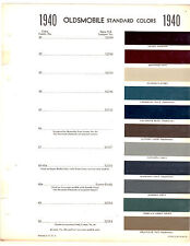 1940 OLDSMOBILE SERIES 60 66 68 70 76 78 40 PAINT CHIPS SHERWIN WILLIAMS 2