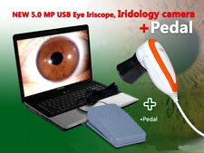 Latest 5.0MP USB Eye Iriscope Iridology Camera+Pedal+Pro Iris Software