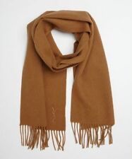 NEW WITH TAGS YSL Yves Saint Laurent Wool and Cashmere Scarf Camel Color