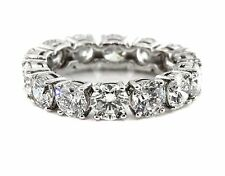 5.01 CT Natural round cut diamond eternity band SI1/F 14K solid white gold